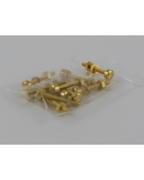 Brass Contact Points - Round (Package of 10)